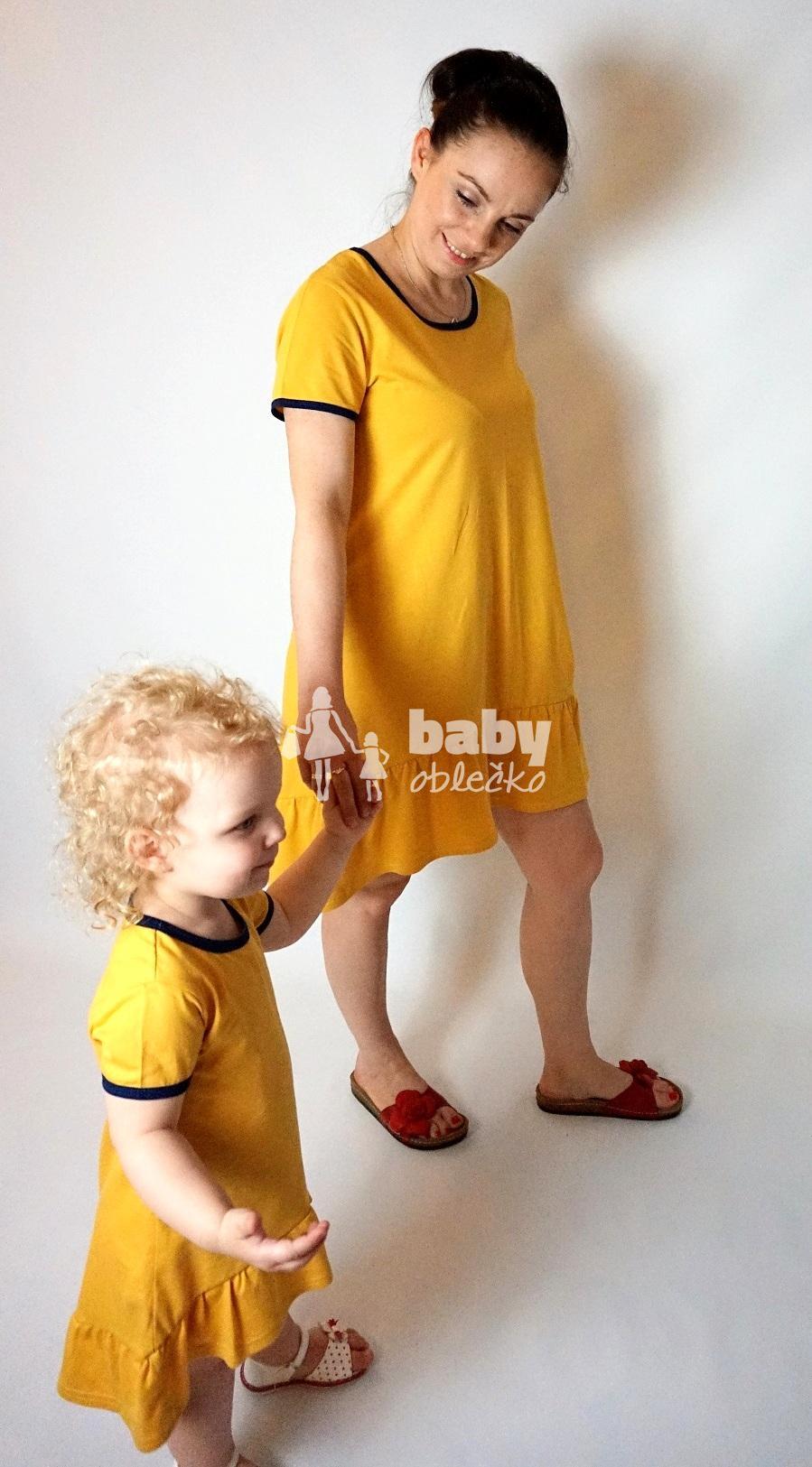 b162adcf7088 Žlté šaty pre mamu a dcéru