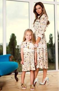 37ec63b64e55 Exkluzívne šaty pre mamu a dcérku empty